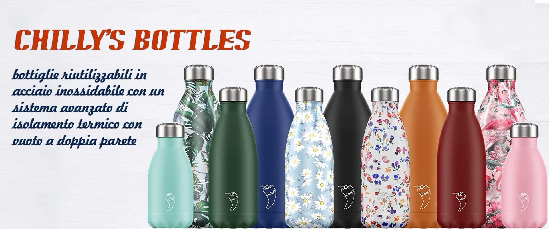 bottiglie riutilizzabili in acciaio inossidabile